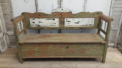 Beautiful, Swedish/french, Painted, Vintage, Antique, Industrial, Bench, Seat