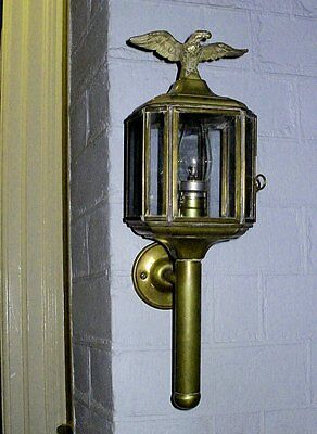 EARLY 20th CENTURY BRASS PORCH LAMP