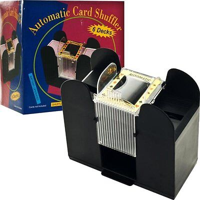Trademark Poker 6-Deck Automatic Card Shuffler Black Trademark Poker Auto BLACK