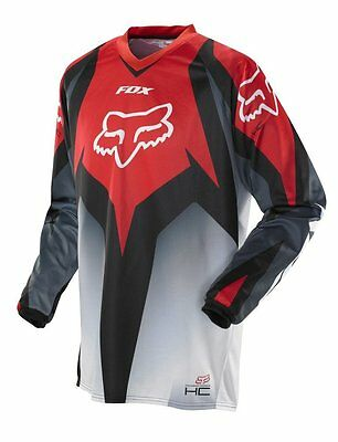 Fox HC Race 2014 red motocross MX jersey size Small RRP $49 Fo06410003s