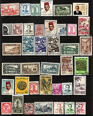French Morocco Nice starter Collection of 100 Mint & Used Stamps