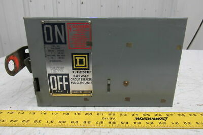 Square D PFA34040 I-Line Busway Circuit Breaker Plug-In Unit 40A 480V 3P