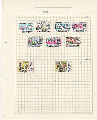 MALAYA PERLIS 1965-71 On old Album page MINT/USED