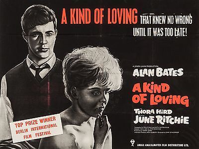 "A kind of Loving 16"" x 12"" Reproduction Movie Poster Photograph"
