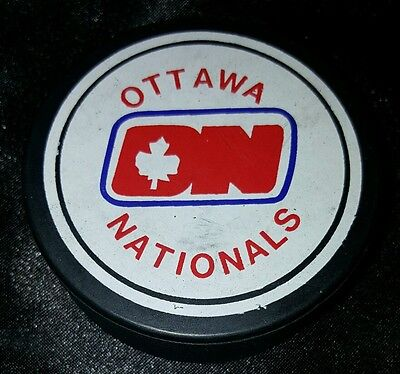 1980s whl ottawa nationals vintage hockey puck scarce not a duplicate