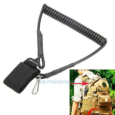 Tactical Backpack Accessories Retractable Sling Rope For Molle CS Lanyard