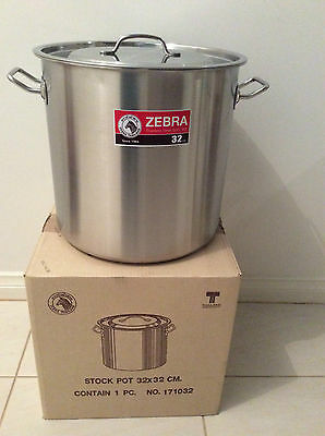Brand New Stainless Steel Stock Pot 32cm