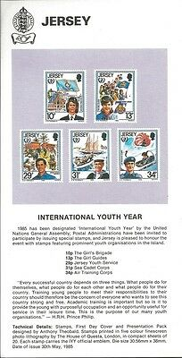 1985 Scouts Jersey Girl Guides 75th anniversary IYY announcement flyer