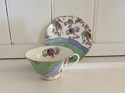 Wedgwood China - Butterfly Bloom green cup & saucer