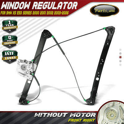 Power Window Regulator W/o Motor for BMW X5 E53 00-06 Front Right 51338254912