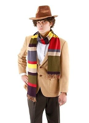 Dr/Doctor Who COSplay Fourth 4th is Tom Baker Striped Scarf Neckchief Boa Lei