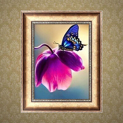 DIY 5D Butterfly Flower Diamond Embroidery Painting Cross Stitch Home Decor