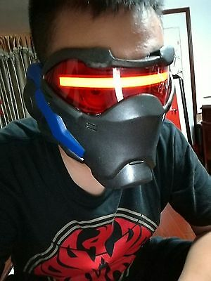 HOT Overwatch OW 76 Soldier Cosplay Prop Mask For Halloween Christmas Custom LED