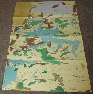 Advanced Dungeons and Dragons AD&D Forgotten Realms Box Set Map #4 1031xxx0704
