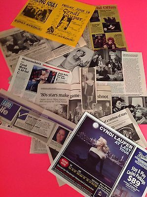 Vintage 1980's & 1990's Cyndi Lauper Clippings & Articles