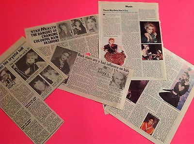 Vintage 1980's & 1990's Cyndi Lauper & MADONNA Clippings & Articles