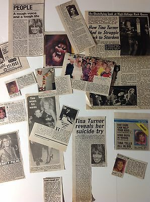 Vintage Rock & Roll TINA TURNER Newspaper Clippings & Articles