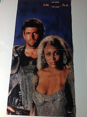 Vintage 1985 Mad Max TINA TURNER Mel GIBSON Promotional Movie Poster