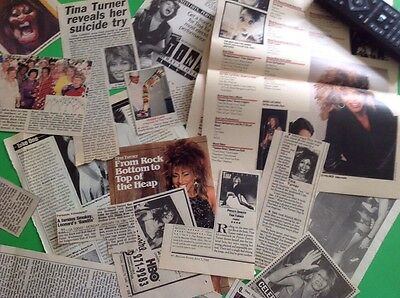 Vintage 1980's TINA TURNER Music Newspaper Magazine Articles Clippings
