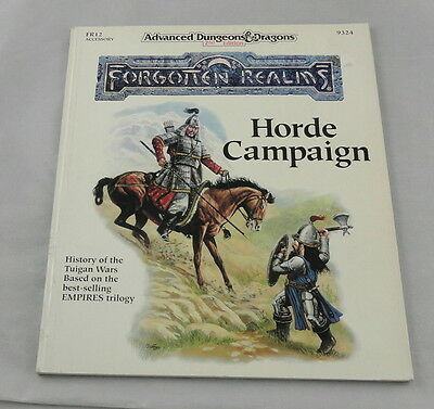 Advanced Dungeons & Dragons Forgotten Realms Horde Campaign FR12 TSR9324 AD&D