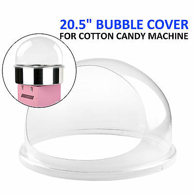 "VEVOR Candy Floss Machine Cover 20.5""  Dome Opening Cotton Candy Clear Bubble"