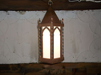 Antique Arts & Crafts Mission Witch Hat Copper Cottage Porch Sconce Light Gothic