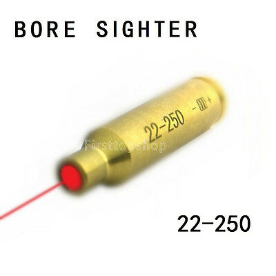 New Bore Sighter .22-250 Cartridge Red Laser Sight Boresighter Hunting copper