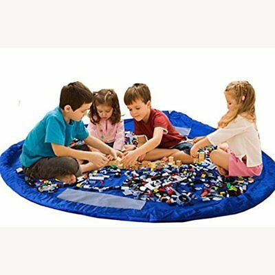 60 Inches Kids Fast Collection Toys Bag Portable Play Floor Mat Large Storage