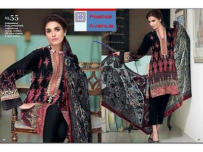 Gul Ahmed 100% Original Winter Collection 2016 Unstitched Suit VL-55