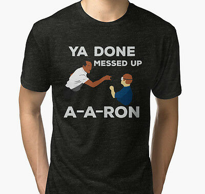 New YOU DONE MESSED UP AARON Men's Black T-Shirt Size S to 2XL