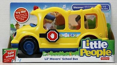 Fisher-Price LITTLE PEOPLE Lil' Movers School Bus ~ NEW & SEALED ~