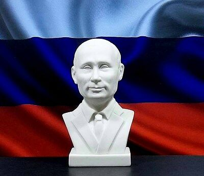 Russian President Vladimir Putin Lifelike Bust Legendary Political Person Ussr
