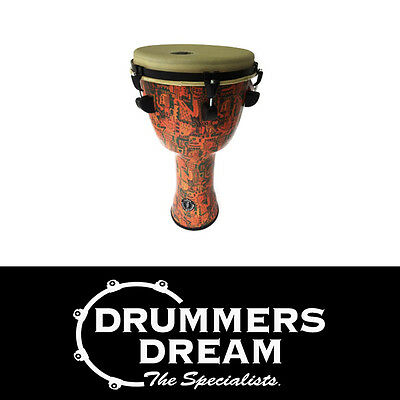 """Pro Djembe 12"""" x 24"""" Top Tuning Djembe Drum With Natural Skin Tribal Design"""