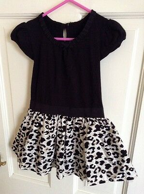 Black Leopard Skirt Dress Age 3-4 years from Matalan