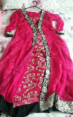 Ladies Readymade Pink Asian Dress Small/Medium