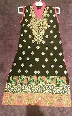 Girls Asian Linen Ready made Outfit Salwaar Kameez Suit Size 24
