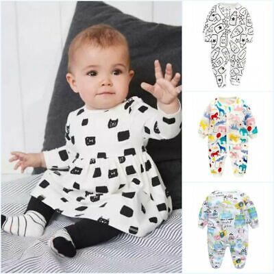 2pcs Newborn Toddler Baby Boy Girl Clothes T-shirt Tops+Pants Infant Outfits Set