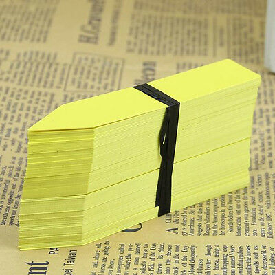 100Pcs 4 Inch Garden Plant Pot Markers Plastic Garden Stake Tag Nursery Labels