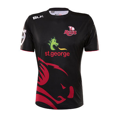 Queensland Reds 2016 Mens Warm Up T-Shirt Gym Tee BNWT Rugby Union Clothing