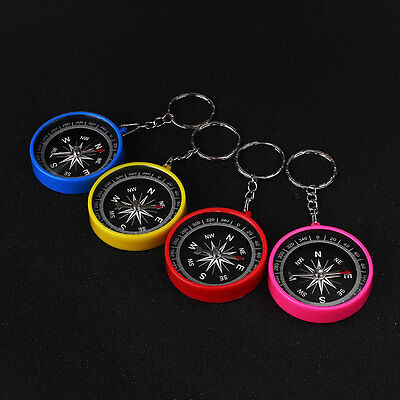 Portable Mini Compass Keyring For Outdoor Sports Hiking Travel Navigation