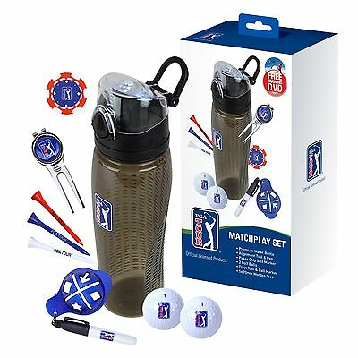 PGA Tour Match Play Drinks Bottle Golf Set - Golfer Christmas Gift For Dad Him