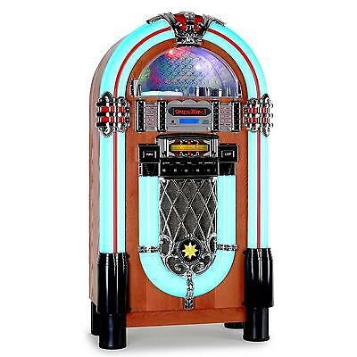 VINTAGE RETRO 1950's ROCK & ROLL JUKEBOX SOUND SYSTEM RADIO CD PLAYER USB SD AUX