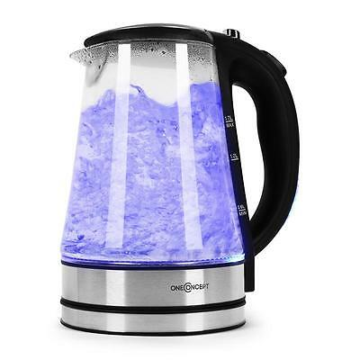 Oneconcept Blue Lagoon Electric Kettle Boiler 1.7 Litre 2200W Water Kettles