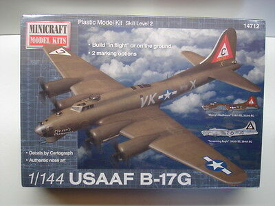 Minicraft 1:144 Scale USAAF B-17G Model Kit - New # 14712 - Shrinkwrapped