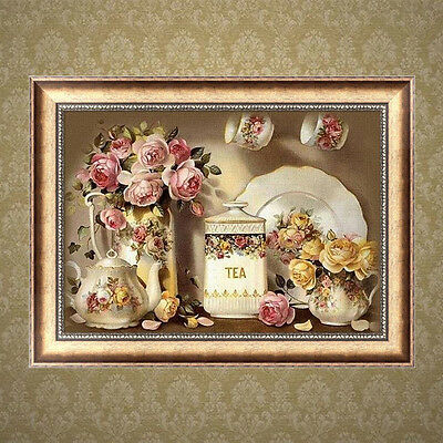 DIY 5D Diamond Vase Flowers Painting Embroidery Cross Crafts Stitch Home Decor