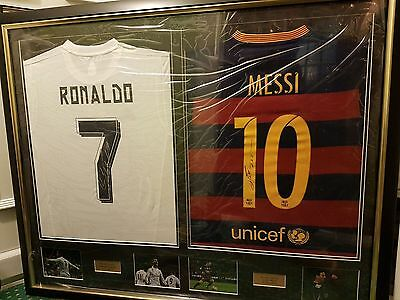 Cristiano Ronaldo & Lionel Messi 2016 Signed Football Shirts Authentic NEW SEAL