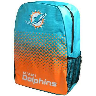 Miami Dolphins - Fade Logo Backpack / Rucksack - New & Official NFL