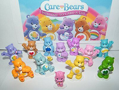 Care Bears Deluxe Figure Set of 12 with Baby Wonderheart Bear, Harmony Bear, and