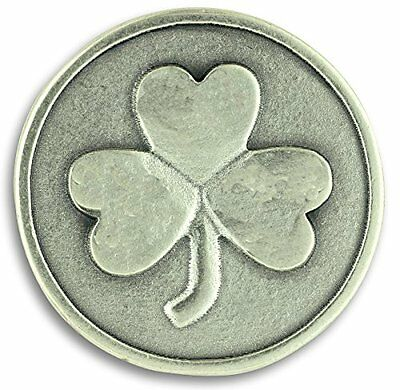 Lot of 3! Shamrock 3 Three Leaf Clover Good Luck Pocket Token Charm Coin with