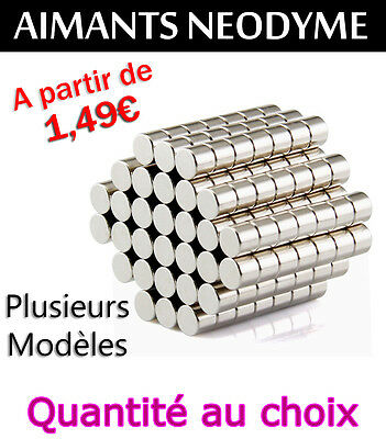 LOT D'AIMANT NEODYME CYLINDRE PUISSANT NdFeB N35 MAGNET SCRAPBOOKING BRICOLAGE